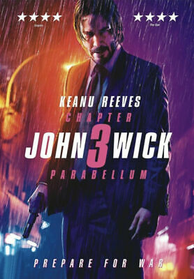John Wick: Chapter 3 Parabellum (NEW SEALED DVD, 2019) Keanu Reeves SHIPS FREE