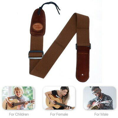 Soft Leather Guitar Strap Adjustable Electric Acoustic Guitars Bass Webbing Belt