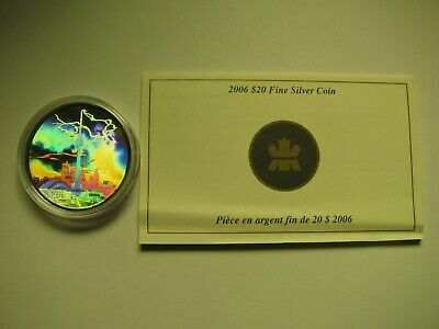 2006 Proof $20 Architectural #2-CN Tower hologram COIN&COA ONLY Canada .9999 sil