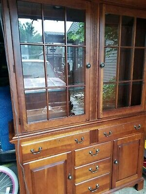 """Traditional 55"""" Buffet w. Display China Cabinet by The Pennsylvania house"""