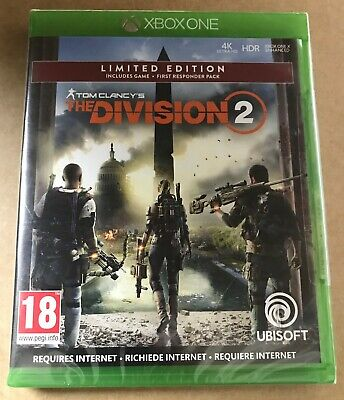 Tom Clancy's The Division 2 Limited Edition Xbox One ~ BRAND NEW SEALED ~ scr