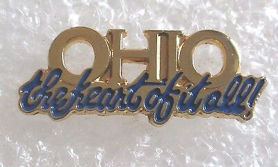 State of Ohio Travel Souvenir Collector Pin-The Heart Of It All