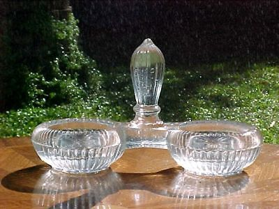Open Salt Antique French Victorian Crystal Double Open Salts