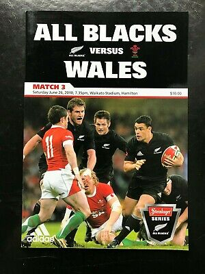 3276 - New Zealand v WALES 2010 Rugby Programme 26th June All Blacks 26/06/2010