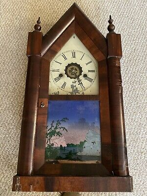 Amazing Antique New Haven Steeple Shelf Clock With Alarm **Running!** Must See