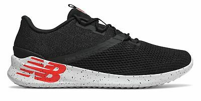 New Balance Men's CUSH+ District Run Shoes Black with Red