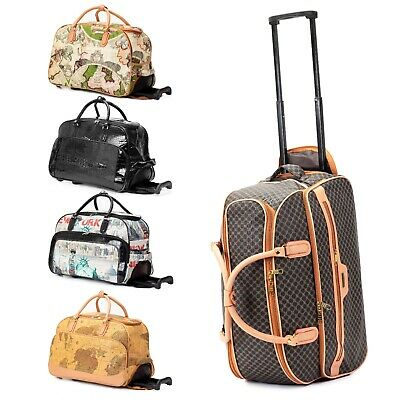 """21"""" Rolling Wheeled Duffle Trolley Bag Tote Carry On Travel Suitcase Luggage"""