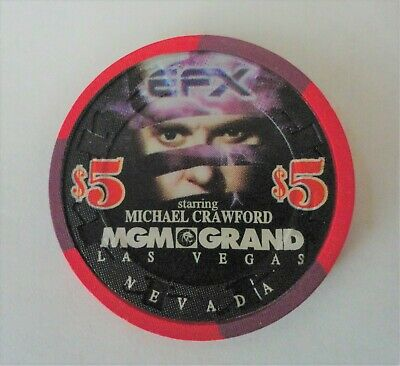 A Five Dollar Casino Chip From Mgm Grand Las Vegas Staring Michael Crawford