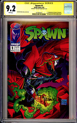 Spawn #1 CGC SS 9.2 Signed By Todd McFarlane (1st Print) Movie Coming Soon!!
