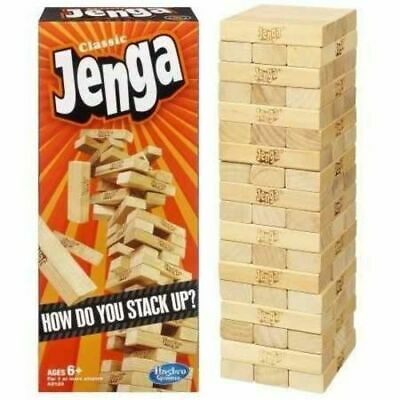 New Boys Toy Hasbro Wooden Jenga Classic Game For Children Kids Toys Gift Item