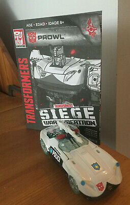 Prowl Transformers Siege Gen. War Cybertron With G1 Style Complete! Ships Oct 26