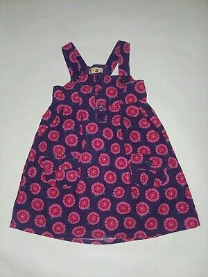 Sweet Ivy Purple Red Pink Floral Corduroy Jumper Dress Girls Sz 4 Button Front