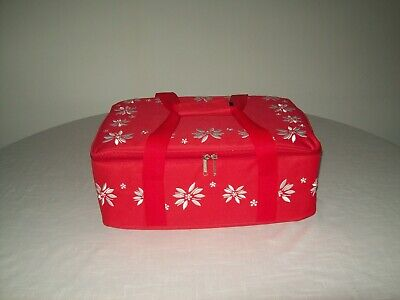 """Temptations - Old World Red - 13"""" x 9"""" Baker Set w/ Lid-its and Tote NEW IN BOX"""