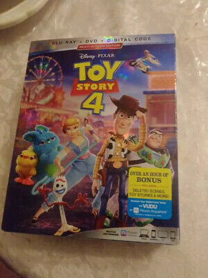 DISNEY PIXAR TOY STORY 4 (BLU-RAY+DVD. No Code) SLIPCOVER. Open But New!