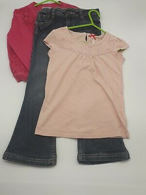 Girls Clothes 6 Years Outfit Cherokee Bell Cut Trousers Next Cardigan Top Bundle