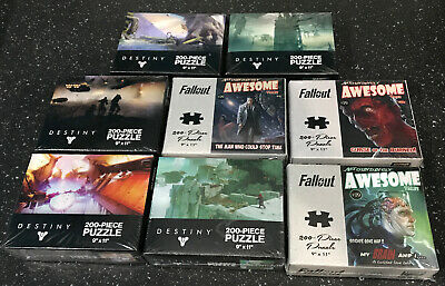 Lot Of 8 Puzzles Destiny & Fallout USAopoly Jigsaw Puzzle Piece Puzzle Lot