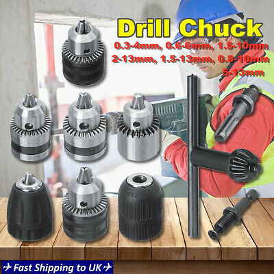 Keyless Drill Chuck Screwdriver Impact Driver Converter Adaptor Hex Shank Kit b