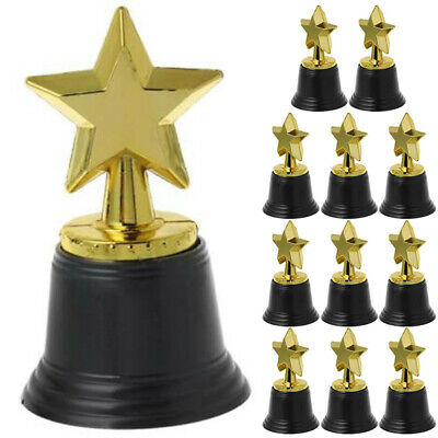 12X  Plastic Star Trophies Winners Award Sports Meeting Competition Party Team