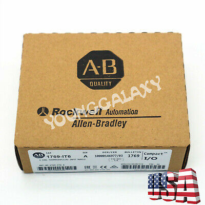 New Allen-Bradley 1769-IT6 CompactLogix 6 Pt Thermocouple Module 1769IT6 US Sell