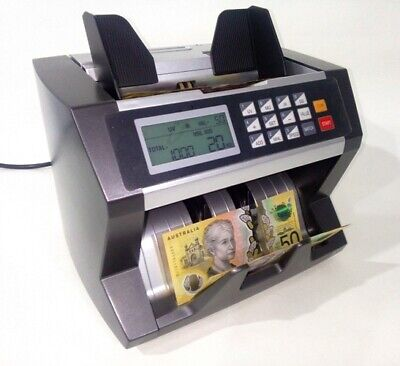 Auscount Aus800 Commercial  Money Counter  / Valuer / 3 Speed / Extra Fast