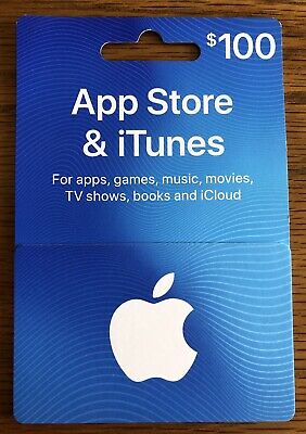 $100 iTunes Gift Card Brand New Unscratched Pin.