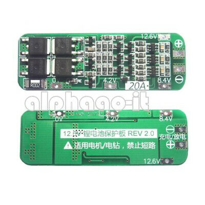 2/5/10PCS 3S 20A 12.6V Li-ion Lithium Battery 18650 Cell Protection Board NEW