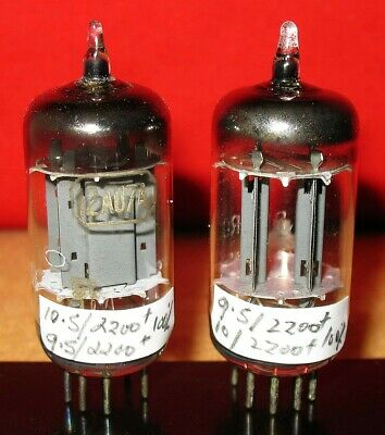 2 x ECC82 / 12AU7 Tubes .. Rare Long Smooth Plate Type .. AVO & Amp Tested