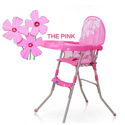 Pink nfant High chair  Foldable Feeding Recliner Seat Chair Baby IKids Toddler
