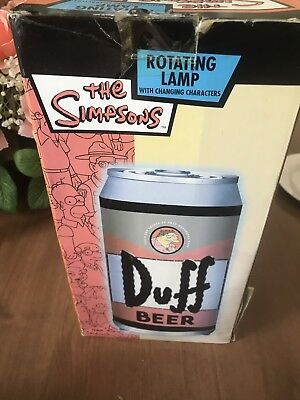 Simpson Rare Duff Rotating Light In Box New