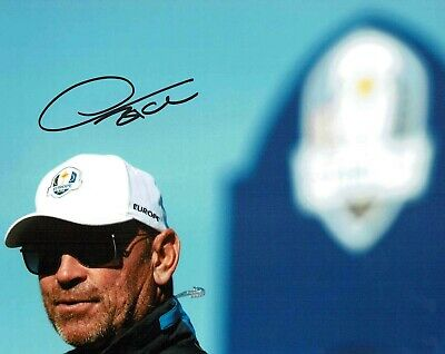 Thomas BJORN 2018 Golf Ryder Cup Winning Captain Signed 10x8 Photo 3 AFTAL COA