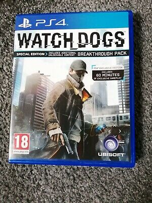 Watch Dogs PS4 Playstation 4 Genuine Super Condition