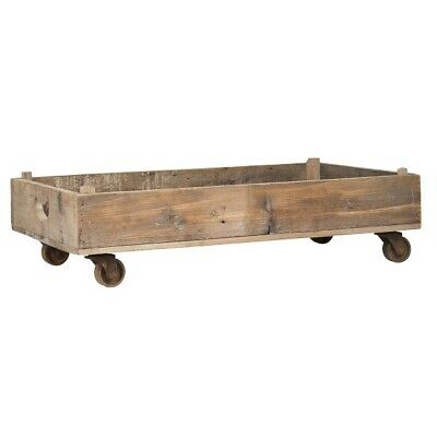 Wood Display Tray with Wheels by Ib Laursen