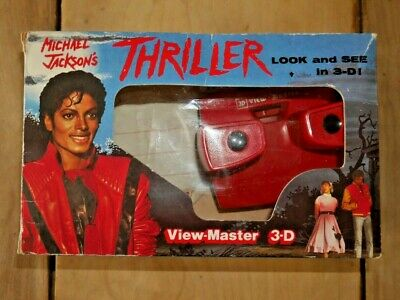 Michael Jackson's Thriller Viewmaster Viewer Box Set & Reels Rare Boxed  F492