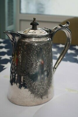 Stunning Antique Victorian  Silver Plate Coffee  Pot Emboosed
