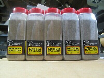 This Auction Is For 5 Shaker Containers Of Woodland Scenics Medium Ballast