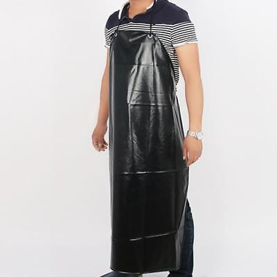 Waterproof PU Leather Apron Industrial Workshoptective Apron Black
