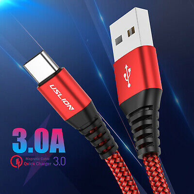 3A Fast Charging Type C Charger Cable Data Sync USB-C Lead For Samsung S9 LG Mac