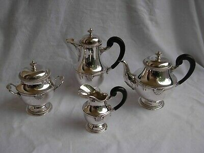 ANTIQUE FRENCH STERLING SILVER COFFEE,TEA SET,LOUIS XV STYLE,LATE 19th CENTURY