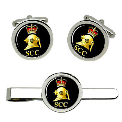 Select Gifts Evolution Ape to Man Sky Diver Gold-Tone Cufflinks Black Pouch