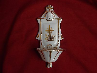 ANTIQUE FRENCH PARIS PORCELAIN HOLY WATER FONT,19th CENTURY.