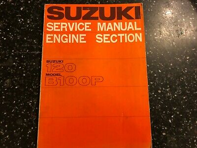 SUZUKI 120 / 118cc  B100P ENGINE (B120) WORKSHOP SERVICE & REPAIR MANUAL 1966-70