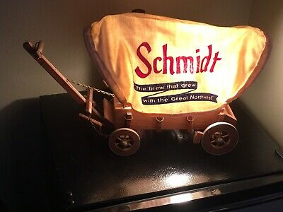 Schmidt Beer Covered Wagon Lamp Advertising Sign
