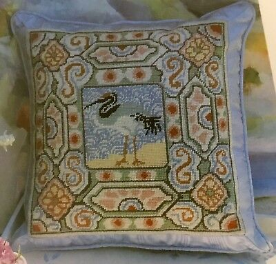 Seabird Cushion Tapestry Needlepoint Colour Chart - Kaffe Fassett