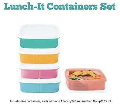Tupperware 5 Pc. Lunch-It Container Set - Brand New!!