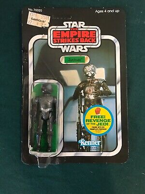Vintage Star Wars Zuckuss 48 Back UNPUNCHED No Lifting On Card Kenner No. 70020