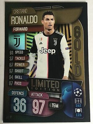 Match Attax 2019/20 Limited Edition Cristiano Ronaldo Juventus Gold
