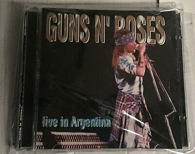 GUNS N' ROSES -LIVE in ARGENTINA - 2 CD LIVE ARGENTINA - NO CDr RARO SEALED MINT
