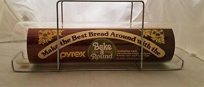 PYREX GLASS BAKE A ROUND BREAD TUBE CORNING Recipe Sheet Instructions Glass