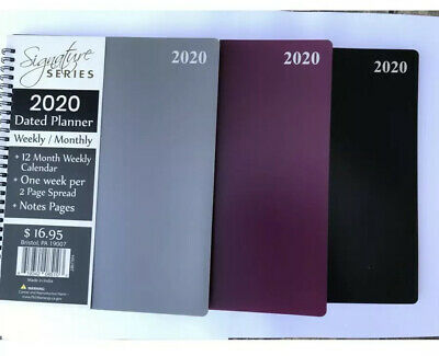 2020 Calendar Planner 8x10Spiral Academic Agenda appointment Book Monthly/Weekly