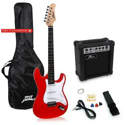 Pylepro Full Size Electric Guitar Package W/ Amp, Guitar Bundle, Case  Accessor